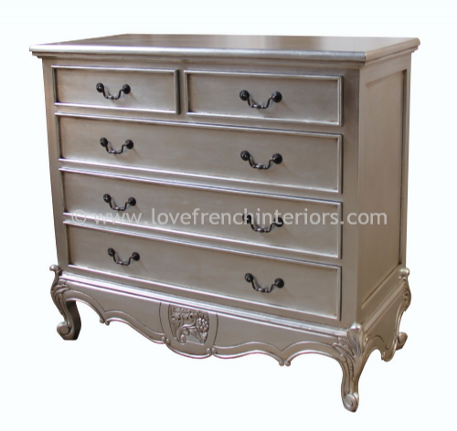 Louis 2 over 3 Five Drawer Chest